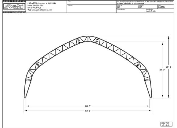 62' Wide Building (Gable Truss)