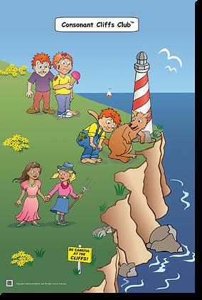 Consonant Cliffs Club Thematic Poster