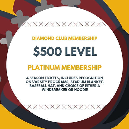 "Diamond Club ""Platinum"" Membership"