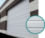 Puertas Industriales Amarr, Puertas de Acero Inoxidable Amarr, Puertas Seccionales Amarr, Puertas Seccionales para Anden Amarr, Cortinas Industriales Amarr, Cortinas Metalicas Amarr, Puerta Seccional Industrial, Amarr Ribbed Panel Steel Door 2402, Cortinas Seccionales Amarr, Puerta Seccional Panel a Rayas Amarr Modelo 2402
