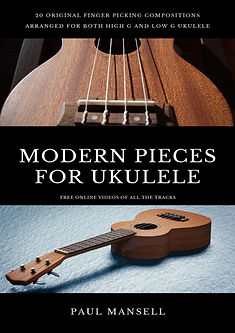 Modern Pieces for ukulele resized cover.