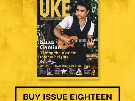 Little old me is in the June 'Uke Magazine' - Twice !