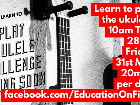 Free Ukulele lesson tomorrow