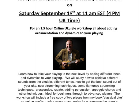 New online ukulele workshop and video