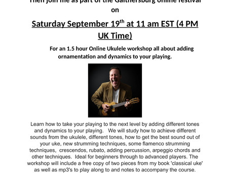 New online ukulele workshop and video