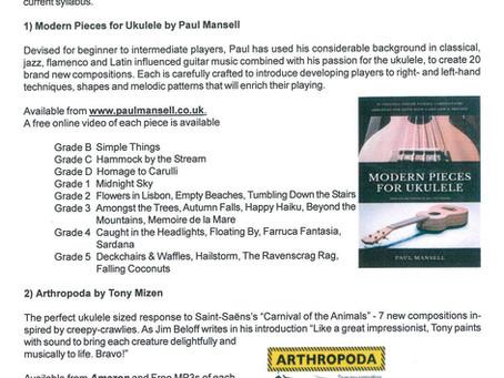 'Modern Pieces for Ukulele' now included on VCM Ukulele exam syllabus