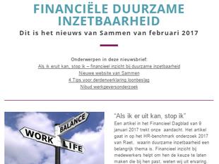 Nieuwsbrief Financiële duurzame inzetbaarheid