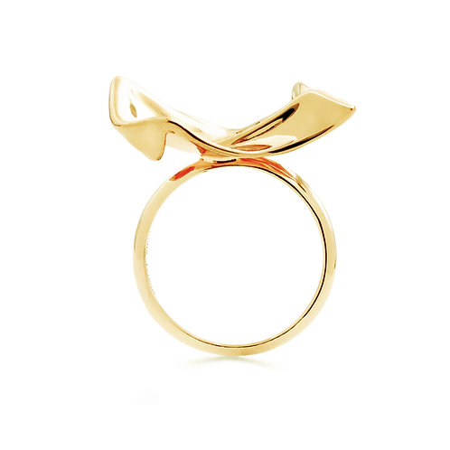 Flowing Cloth Ring | Gold