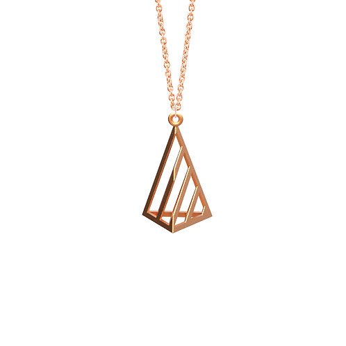 illusion Triangle Necklace S Size (14K Rose Gold Plated) | illusion Collection