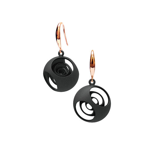 Turner's Sphere Earrings (Black) | Scaling Collection