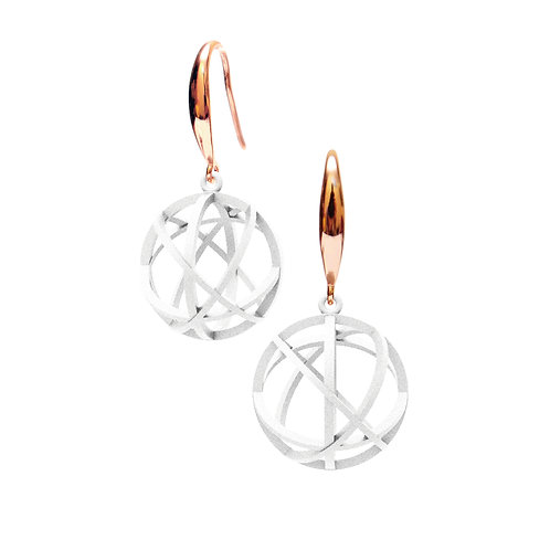 Spacing Sphere Earrings (White) | Sense of Space Collection