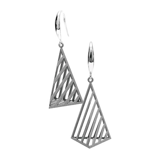 Op Triangle Earring L Size (Grey) | illusion Collection
