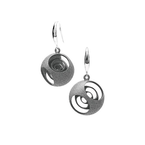 Turner's Sphere Earrings (Grey) | Scaling Collection