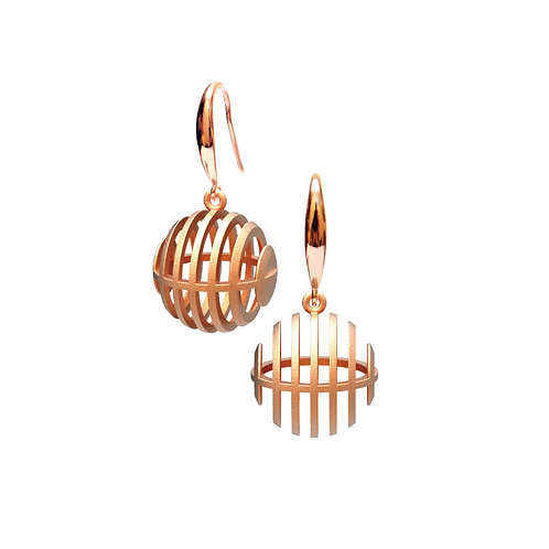 Op Sphere Earring (14K Rose Gold Plated) | illusion Collection