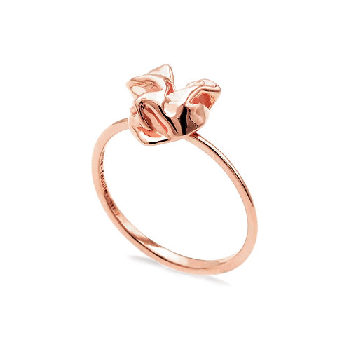 Scratching Cloth Heart Ring | Rose Gold