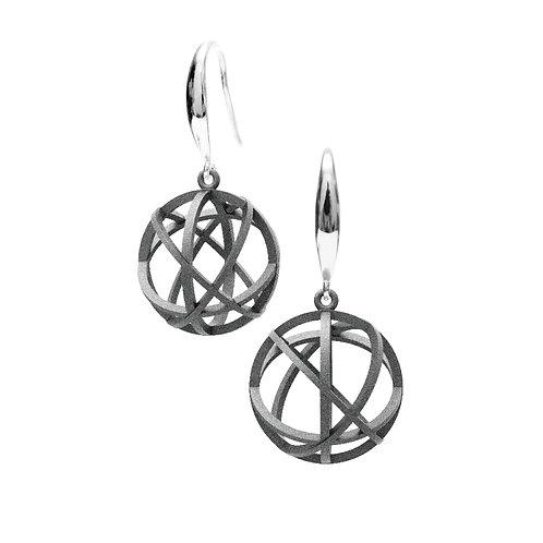 Spacing Sphere Earrings (Grey) | Sense of Space Collection