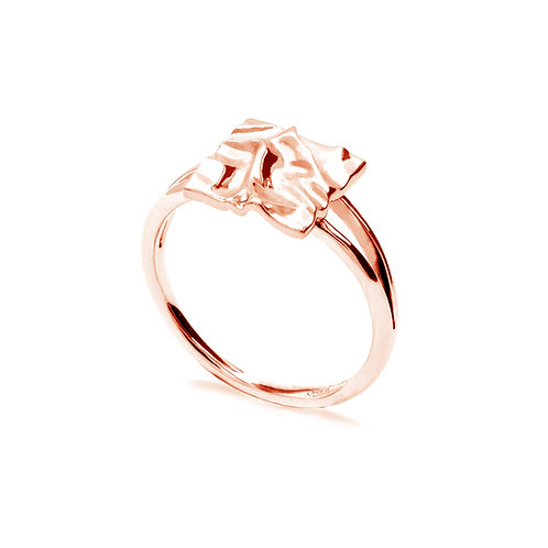 Scratching Cloth Square Ring | Rose Gold