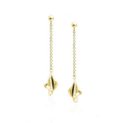Mini Cloth Earring | Gold