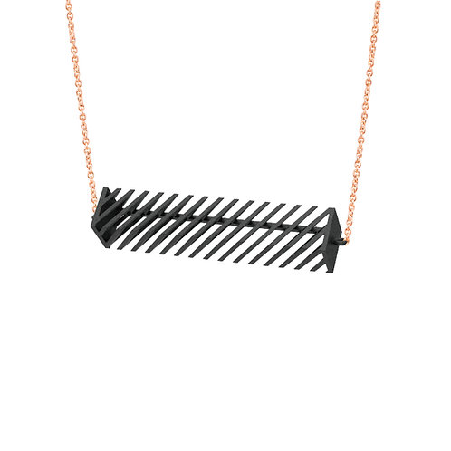 Op Rectangle Necklace (Black) | illusion Collection
