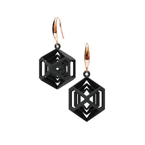 Turner's Diamond Earrings (Black) | Scaling Collection