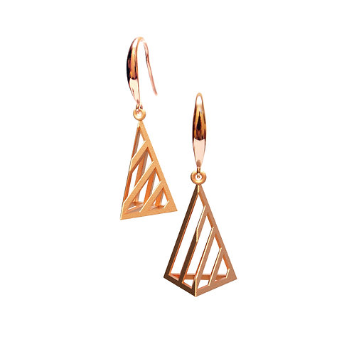Op Triangle Earring S Size (14K Rose Gold Plated) | illusion Collection