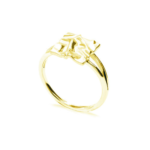 Scratching Cloth Square Ring | Gold