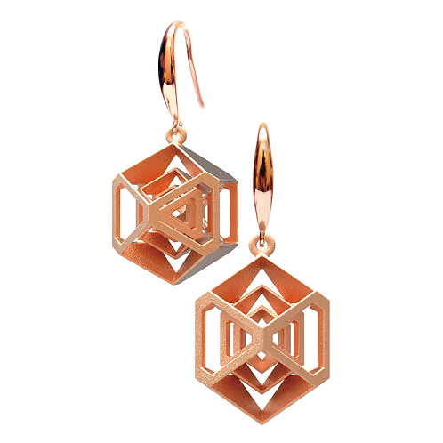 Turner's Diamond Earrings (14K Rose Gold Plated) | Scaling Collection