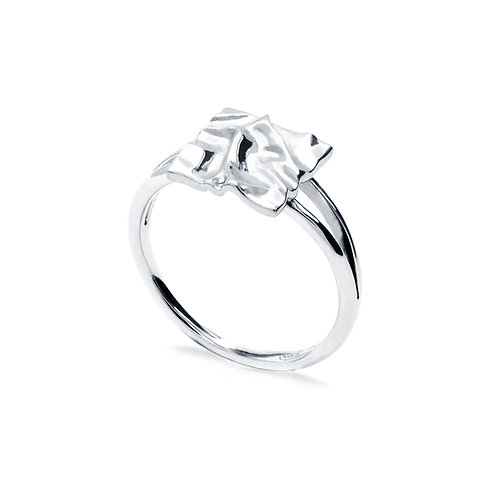 Scratching Cloth Square Ring | Silver