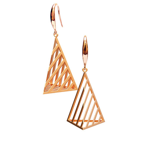 Op Triangle Earring L Size (14K Rose Gold Plated) | illusion Collectio