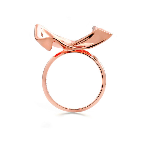 Flowing Cloth Ring | Rose Gold