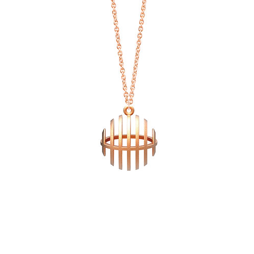 illusion Sphere Necklace (14K Rose Gold Plated) | illusion Collection