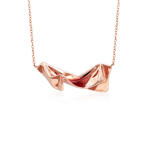 Wrinkle Cloth Necklace | Rose Gold