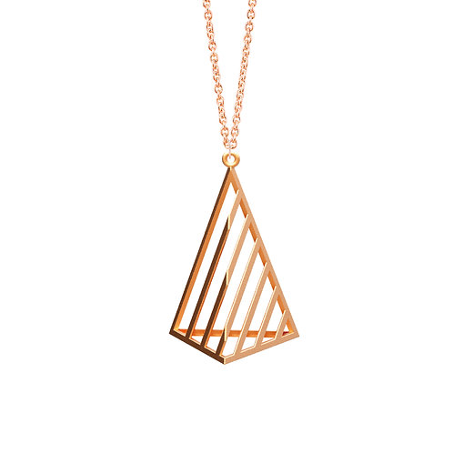 illusion Triangle Necklace L Size (14K Rose Gold Plated) | illusion Coll
