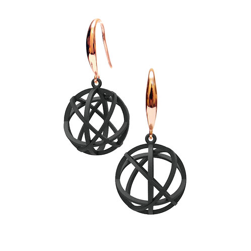 Spacing Sphere Earrings (Black) | Sense of Space Collection