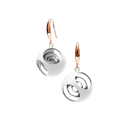 Turner's Sphere Earrings (White) | Scaling Collection