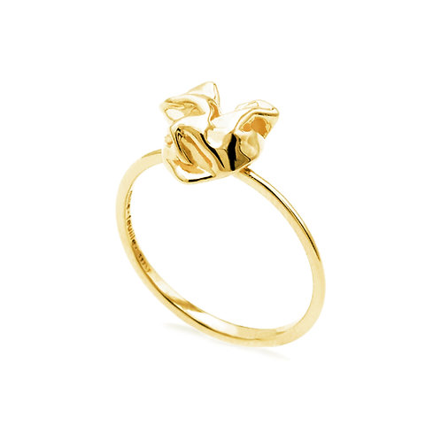 Scratching Cloth Heart Ring | Gold