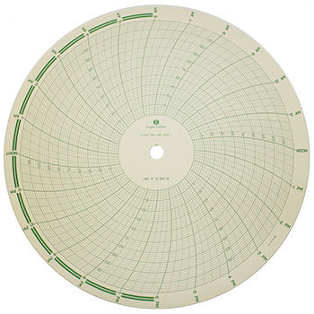 "12"" Recorder Chart 24Hr P_0-150-12"