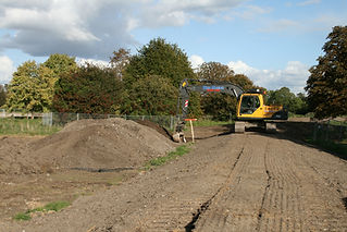 Environment Agency constructing the flood defense in 2008