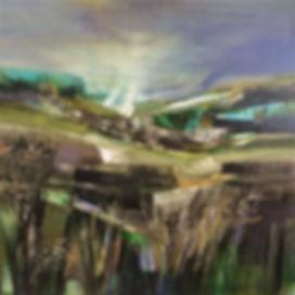 'Resilience '  Acrylic on canvas 1mx1m.J