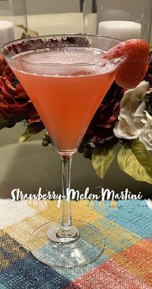 Strawberry-Melon Martini