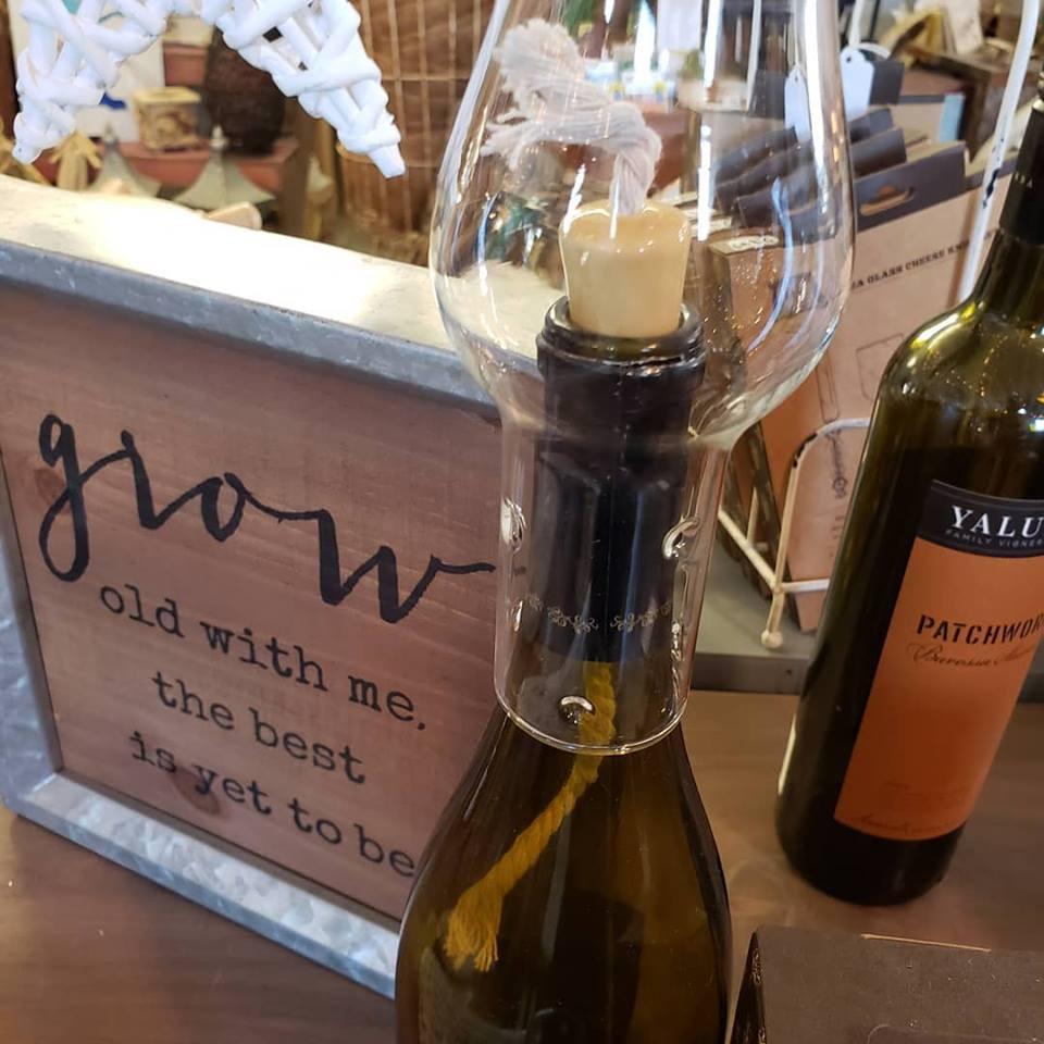 wine hurricane candle
