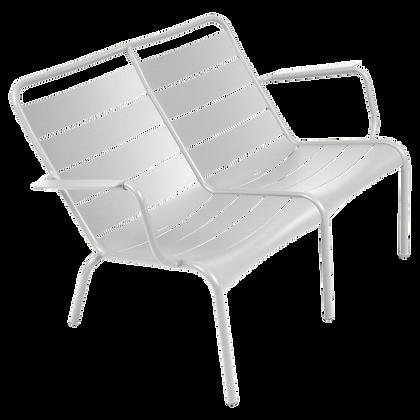Luxembourg Duo Low Armchair - STEEL GREY