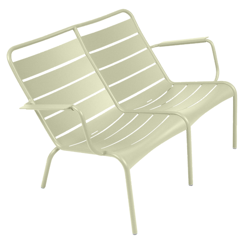 Luxembourg Duo Low Armchair - WILLOW GREEN