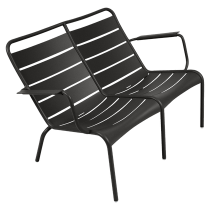 Luxembourg Duo Low Armchair - LIQUORICE