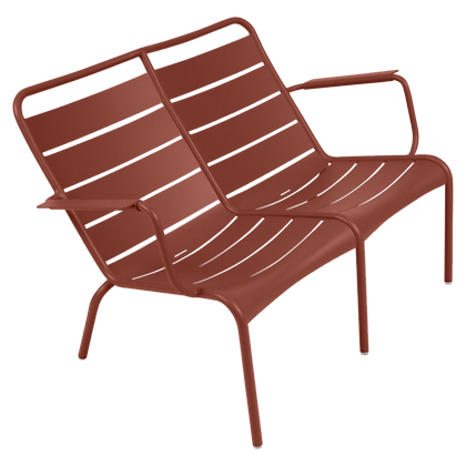 Luxembourg Duo Low Armchair - RED OCHRE