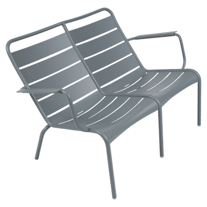 Luxembourg Duo Low Armchair - STORM GREY