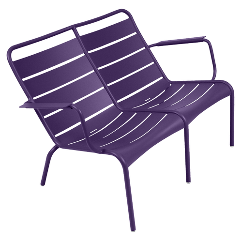 Luxembourg Duo Low Armchair - AUBERGINE