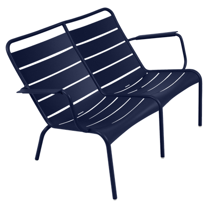 Luxembourg Duo Low Armchair - DEEP BLUE