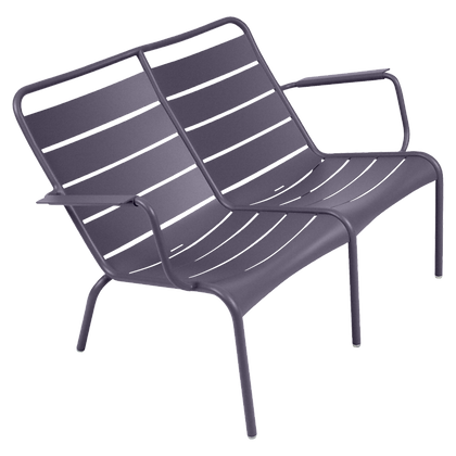 Luxembourg Duo Low Armchair - PLUM