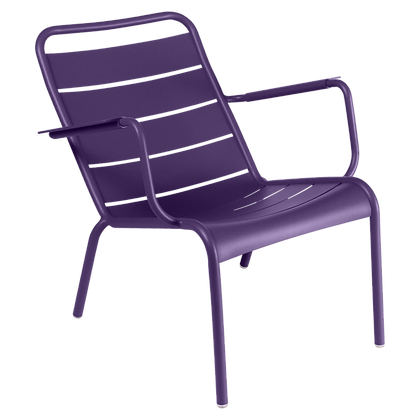 Luxembourg Low Armchair - AUBERGINE